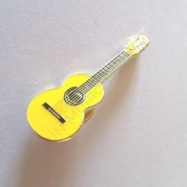 Pins guitare classique jaune miniature
