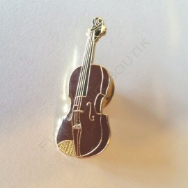 Pins violon doré miniature
