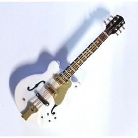 Guitare électrique blanche or magnétique